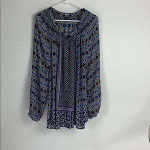 Lucky Brand Ladies Top Size 3X
